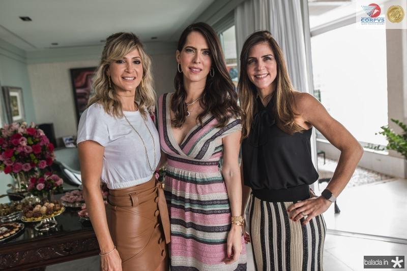 Bianca Bonorandi, Marcella Porto e Raquel Jucá