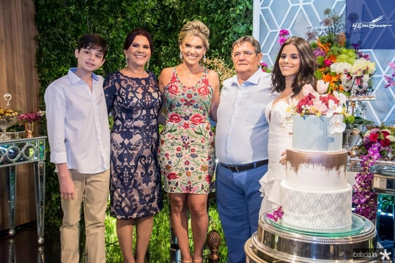 Cristiano Filho, Roseane Campos, Pauliani Campos, Menezes e Cristiane Cruz