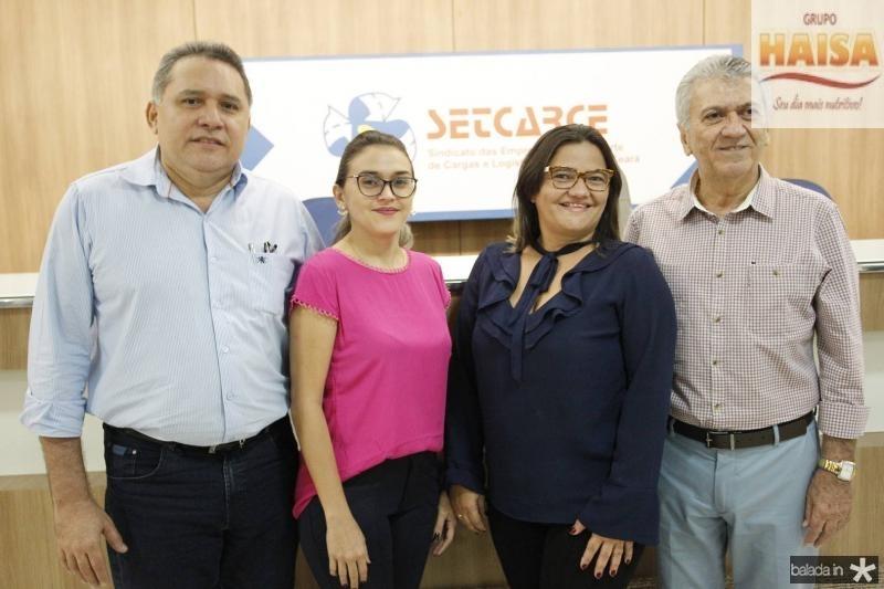 Expedito junior, Rafaela Lima, Aurielia Almeida e Clovis Nogueira