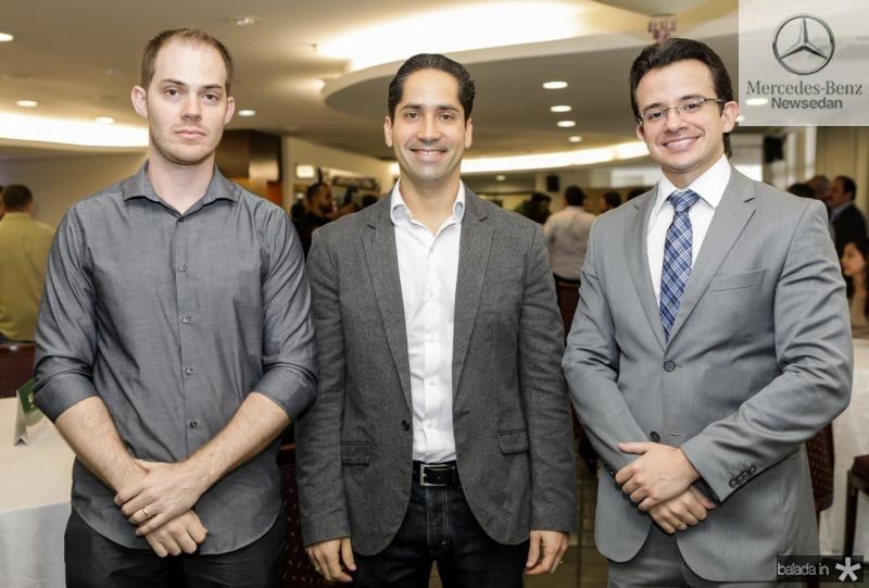Daniel Thomaz, Rodrigo Rodrigues e Rafale Albuquerque