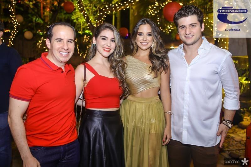 Bruno e Juliana Nogueira, Fernanda Levy e Omar Macedo