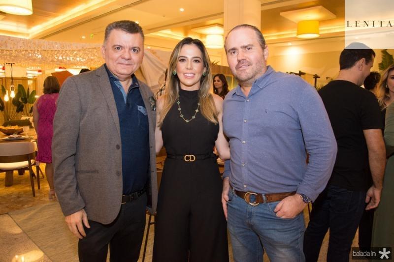 Omar Albuquerque, Ingrid Lucena e Roberto Pamplona