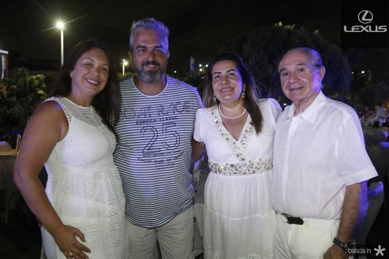 Shirley e Sergio Santana, Fernanda e Tarquilio Pementel