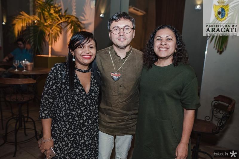 Regislane Duarte, Lindemberg Fernandes e Maria Piuba
