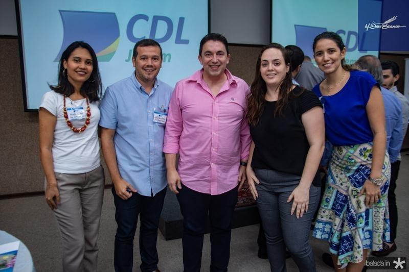 Patricia Gomes, Kelsen Pontes, Rodrigo Pereira, Nathalia Sampaio e Aniele Pison