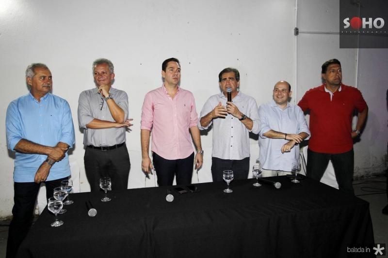 Nezinho Farias, Andre Figueiredo, Eduardo Bismarck, Zezinho Albuquerque, Roberto Claudio e Gony Arruda
