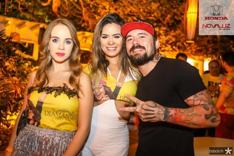 Sara Sido, Isabelle Santos e Rony Jeison