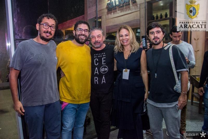 Ney Filho, Gabriel Baquite, Claudio Silveira, Milena Lima e Levi Arruda