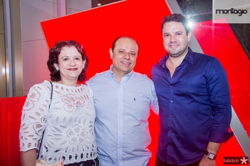 Maria do Carmo Pinho, Claudio Pinho e Leonardo Couto