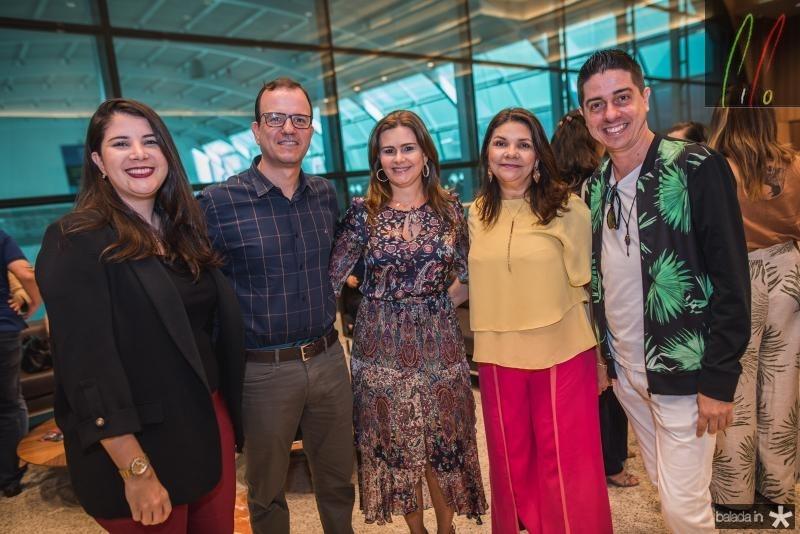 Keila Moreira, Gian Franco, Ivana Bezerra, Celina Castro Alves e Marcio Correia