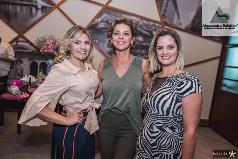 Edneide Pinehiro, Ana Cristina Wolf e Amanda Sobreira
