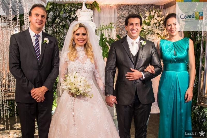 Camilo Santana, Lohana Fontenele, Daniell Rios e Onelia Leite