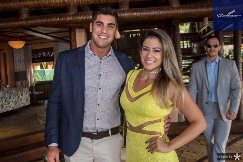 Cesar Salazar e Luana Teixeira