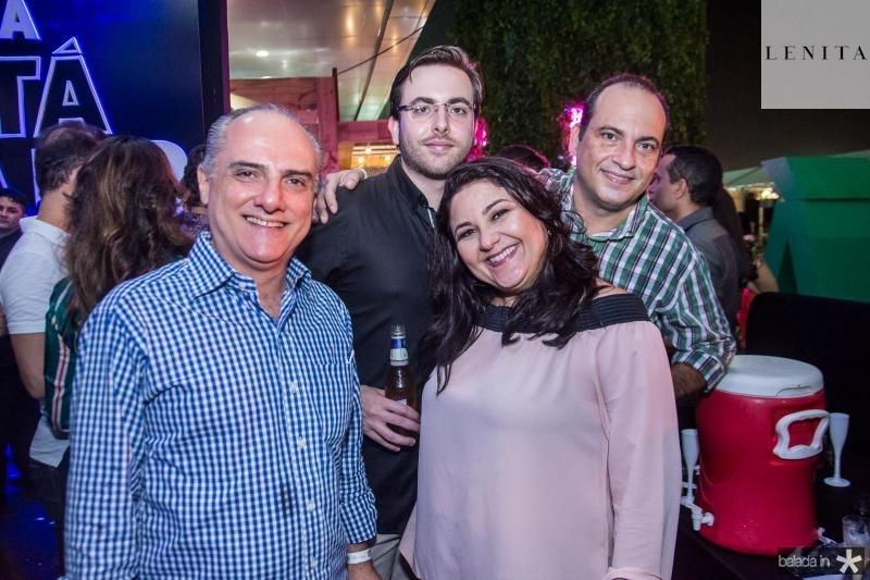 Marcelo Aragao, Ricardo Brandeo Junior, Ricardo Brandeo e Luciana Arago