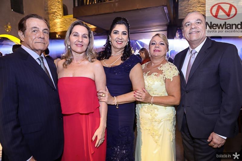 Ivon e Silvia Levy, Isabelle Leitao, Deise e Jorge Macedo