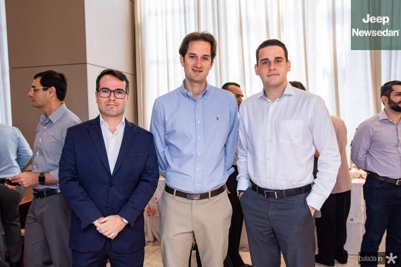 Marco Furtado, Daniel Pio e Lucas Filgueiras