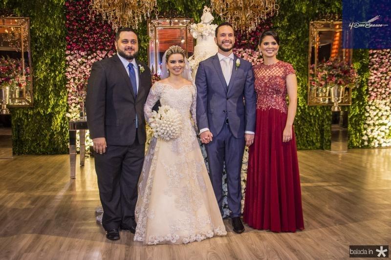 Pedro Lira, Diandra Alves, Roberto Cabral e Alexandra Alves