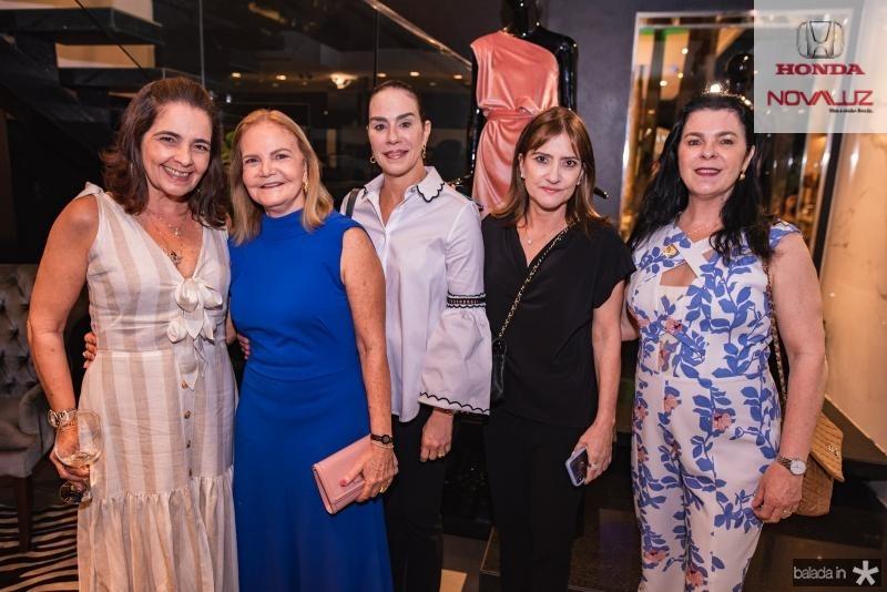 Giana Studart, Vera Bizerril, Cristine Ary, Pretinha Rolim e Silvia Fiuza