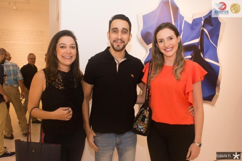 Caroline Silveira, Diego Carneiro e Daniele Holanda