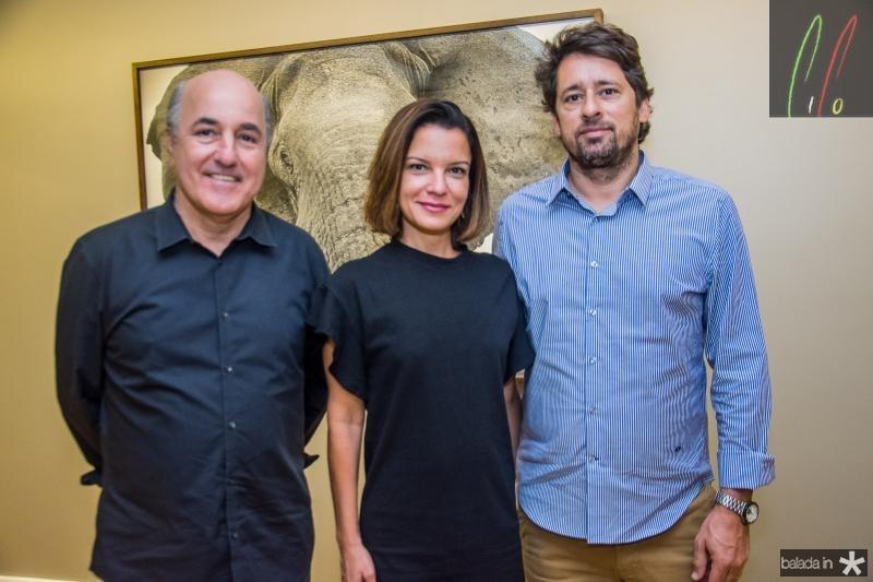Silvio Frota, Adriana Cravo e Christian Cravo