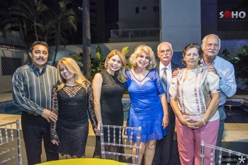 Leandro Batista, Veronica Amaral, Renata Amaral, Lurdes Borim,  Wilson Mansine, Rosangela Pinguelli e  Helio Pinguelli