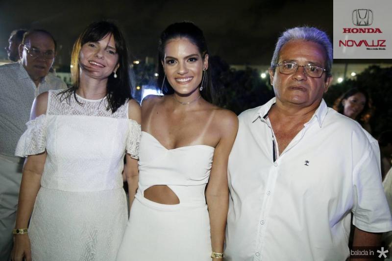 Giana Camara, marcela Gripp e Fernando Fernandes