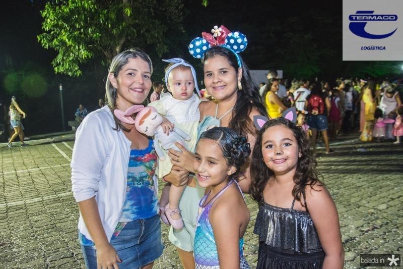 Mila Albuquerque, Cecilia Albuquerque, Larissa Menezes, Alice Menezes e Lorena Carvalho