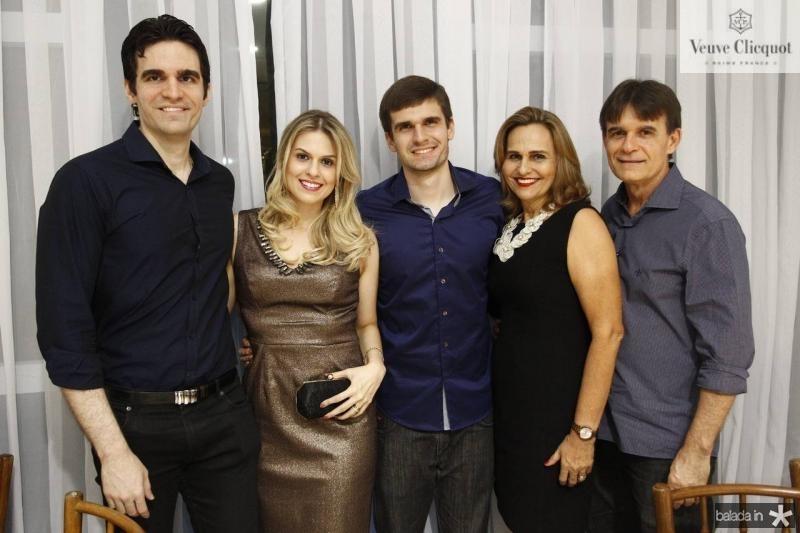 Rafael, Camila, Rodrigo, Rossana e Luiz Moreira de Sousa