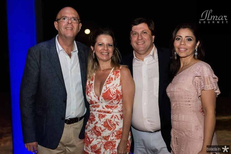 Mario, Cristina, Elmo e Poliana Carvalho