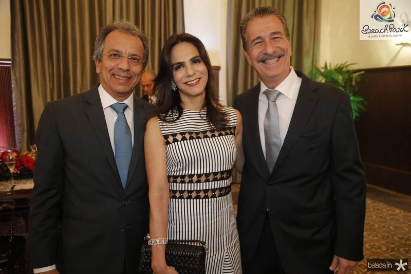 Eduardo e Sandra Rolim e Emilio Ary