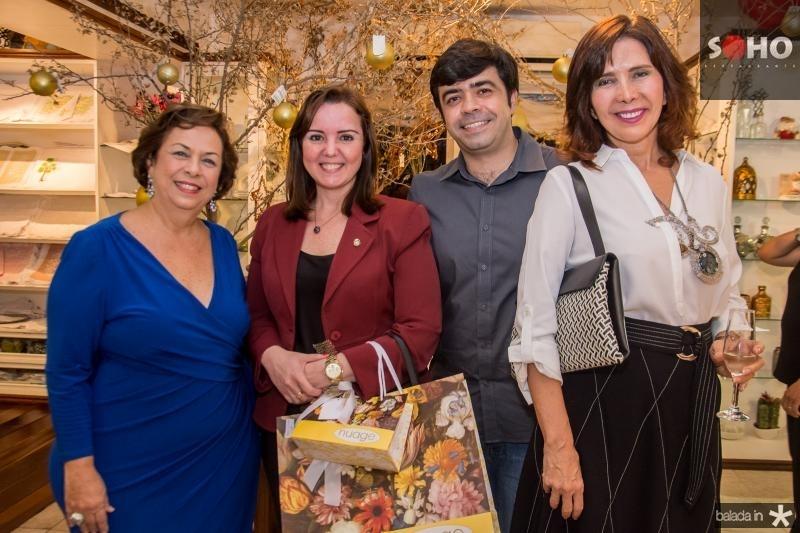 Julia Gurjão, Nicole Barbosa, Eduardo Cals e Monique Gentil