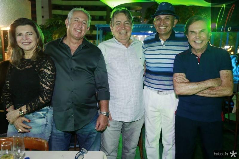 Francy Assad, Paulo Barros, Almiro Marinho, Licinho Correa e Lala Medeiros
