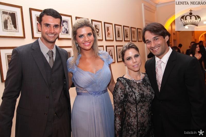 Dimas e Anelisa Barreira, Mirela e Claudinho Rocha