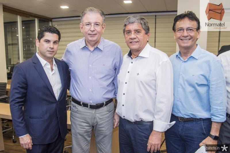 Pompeu Vasconcelos, Ricardo Cavalcante, Sampaio Filho e Francilio Dourado