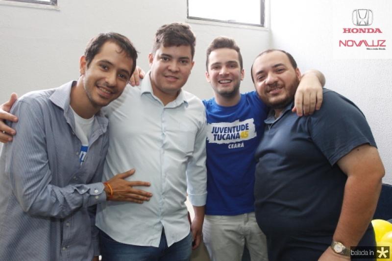 Pedro Caldas, Rodrigo Barcelos, Gustavo Pontes e Fabio Torres