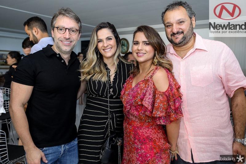 Chico e Mariana marinho com Renata e Patriolino Dias