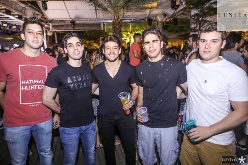 Alexandre Aguiar, Kalil Saboia, Jeferson Gomes, Mateus Sales e Nicolas Arruda