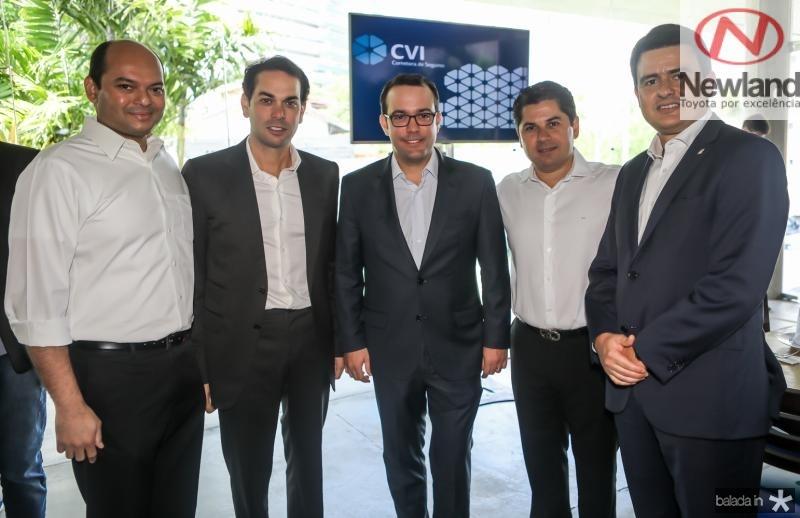 Otilio Ferreira, Claudio Vale, Ivo Machado, Pompeu Vasconcelos e Luiz Sergio