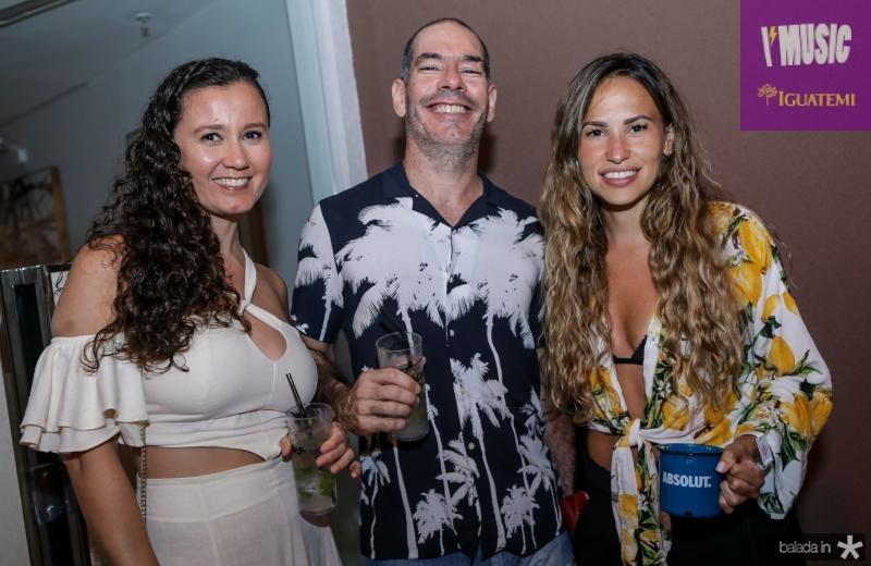 Larissa Castro, Luiz Adjafre e Sarah Castro