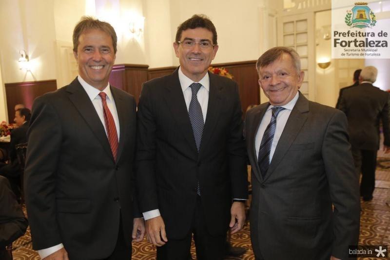 Chico Jereissati, Alexandre Pereira e Edilmo Linhares