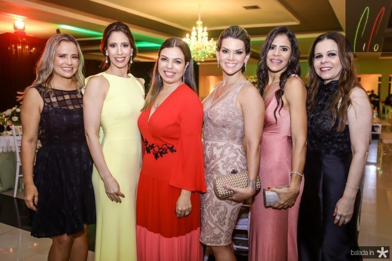 Alessandra Sa, Juliana Araujo, Edinice Bezerra, Pauliane Campos, Adriana Coutinho e Isabelle Borges