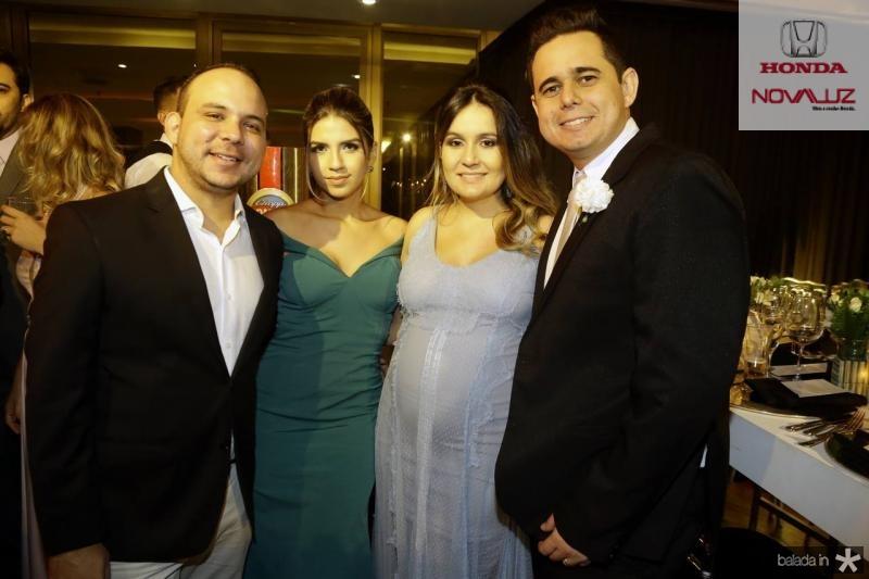 Daniel Meireles, Sarah Gadelha, Rebeca Brasileiro e Guilherme Nobrega