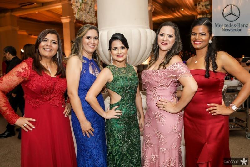 Ildenia Coelho, Lidina Catunda, Luciana Duarte, Caroline Lima e Even Morais