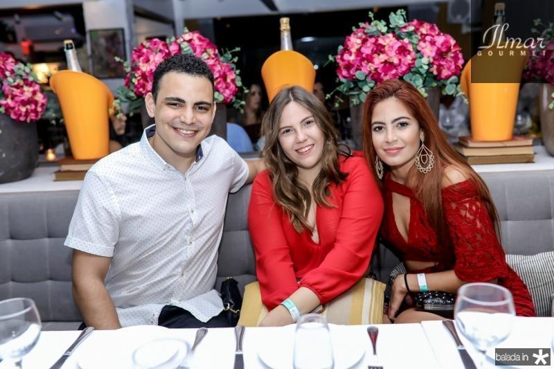 Daniel Soares, Georgea Andrade e Barbara Alves