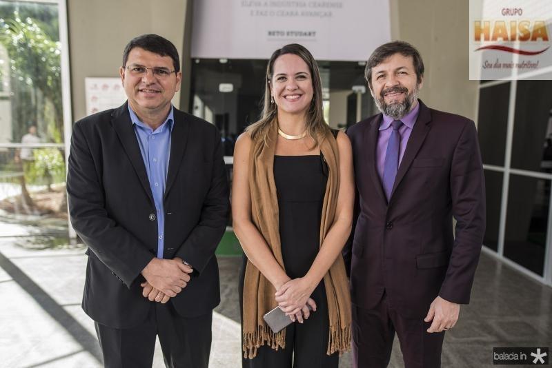 Sergio Lopes, Juliana Guimaraes e Elcio Batista