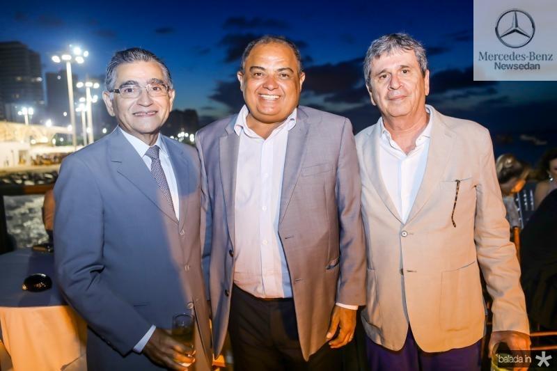 Suetonio Mota, Teodoro Santos e Marcio Tavora