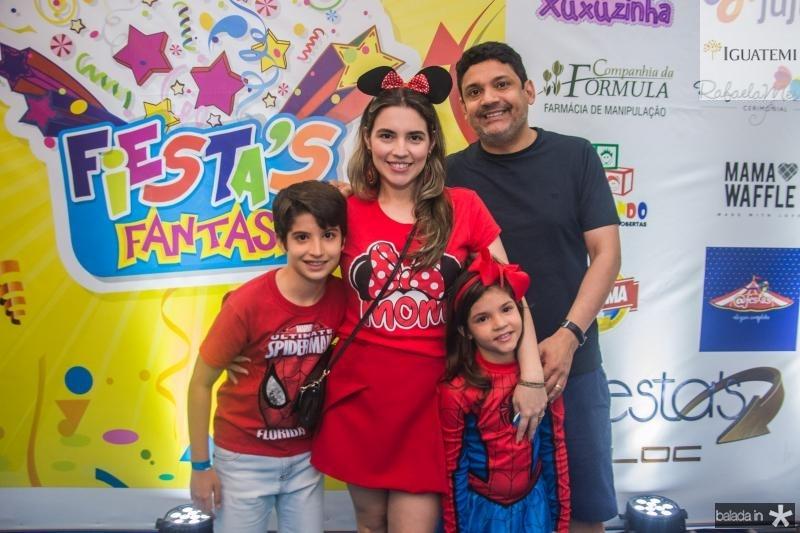 Leonardo Aires, Juliana Bastos, Maria Beatriz Aires e Bruno Queiroz