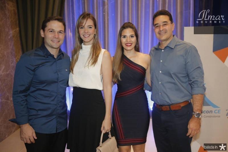 Fabio e Naiara Albuquerque, Pamela e Daniel Arruda