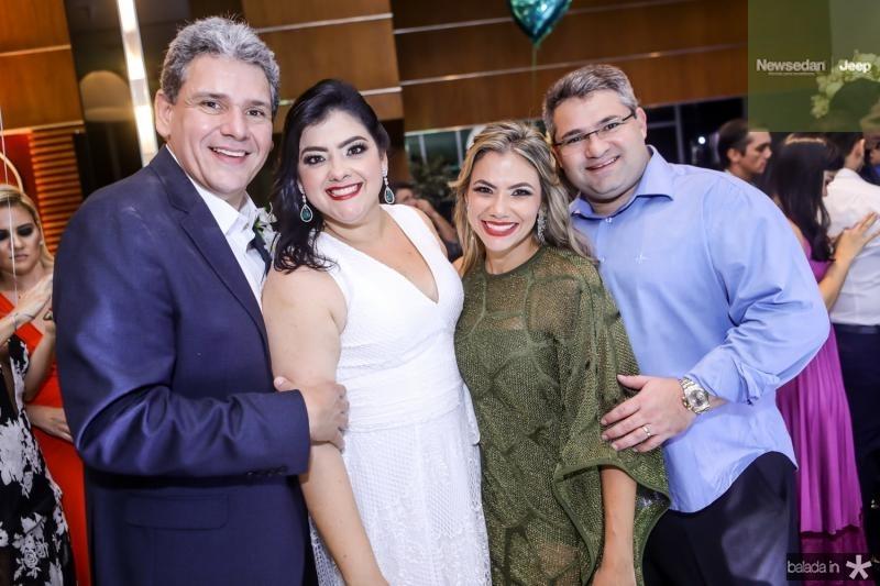 Tobias Barreto, Vivi Almada, Vanessa e Mario Queiros