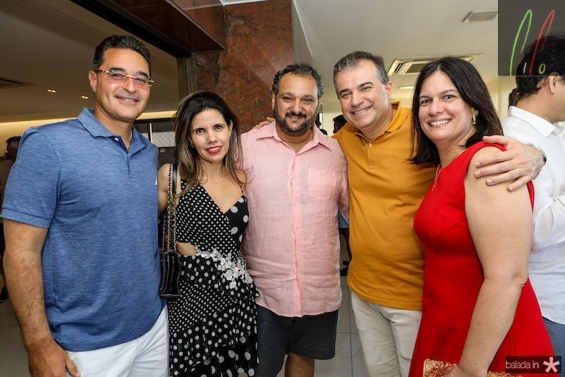 Patriolino Dias com Pamela e Daniel Arruda, Luciana e Ricardo Bezerra